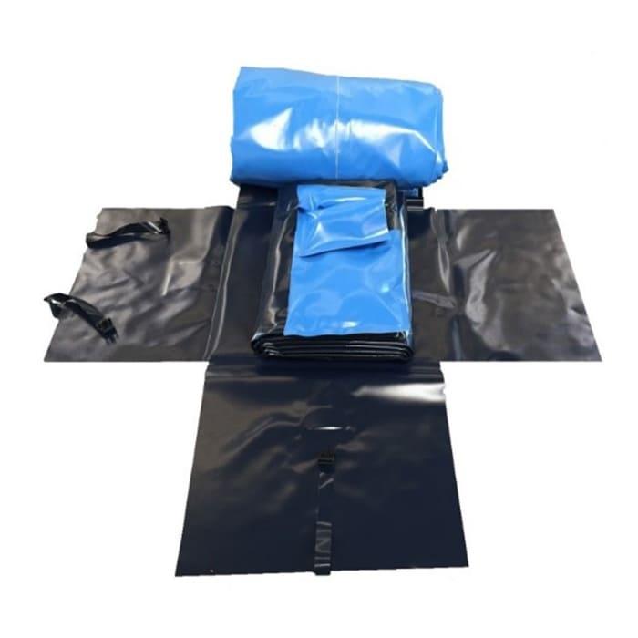 offene Packtasche für die Faltbehälter