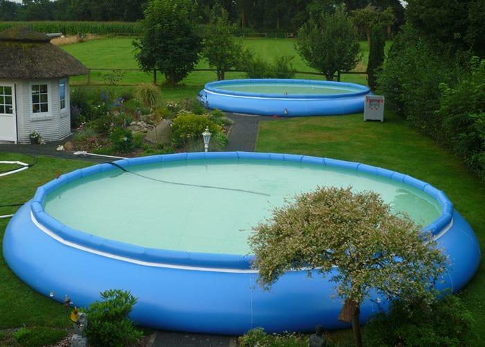 offener Faltbehälter der Faltisilo GmbH als Pool für den Garten