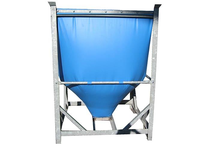 Kleinfaltsilo in blau für Schüttgüter